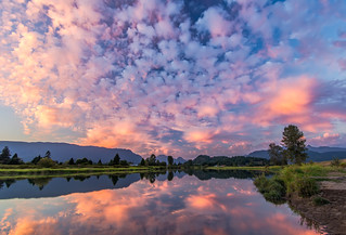 Pink Sky Reflection