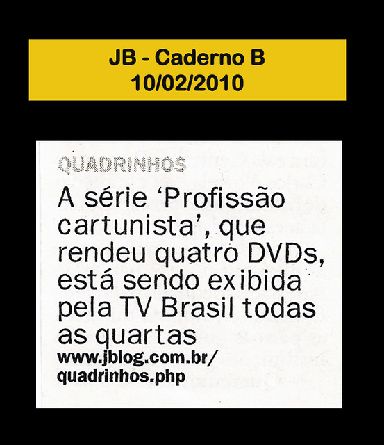 Jornal do Brasil - Caderno B - 10/02/2010