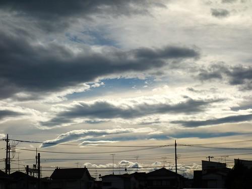 台風通過後の空