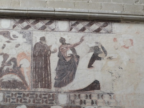 Iglesia de San Miguel de Foces - Detalle de pinturas del lado del evangelio 4