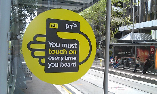 Here's the New #PTV #Myki tram stop signage