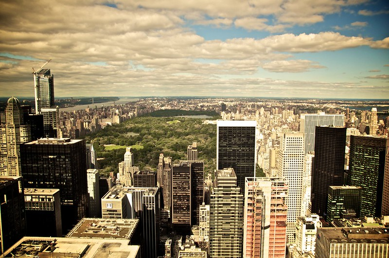 View on Central Park from the Rockefeller Center