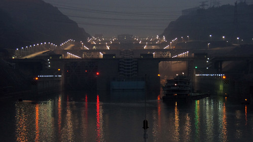 Patrick Denker's photo of the locks on the Yangtze river.