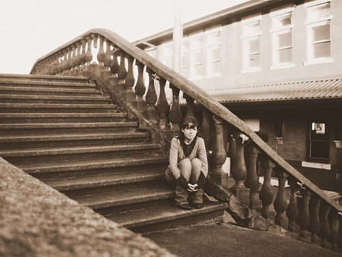 old woman girl sepia stairs train lost waiting poplar young missouri depot bluff poplarbluff