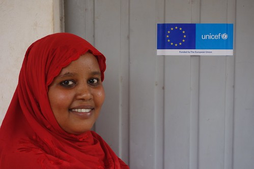 Star pupil Radia Mohamed, aged 24, outside her office at Garman health post