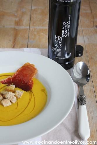 Crema de pimientos amarillos www.cocinandoentreolivos (1)