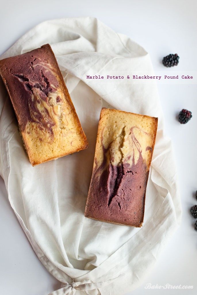 Marble Potato & Blackberry Pound Cake