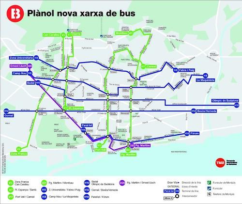 Plànol de la nova xarxa de bus