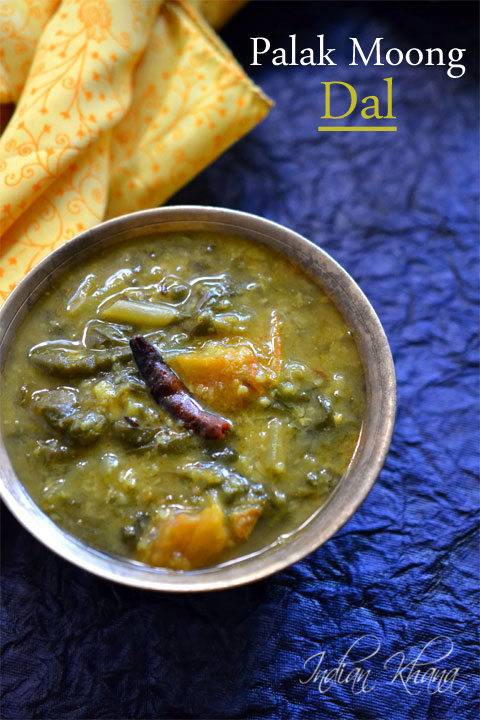 Palak Moong Dal | Dal Palak Recipe | Dal Recipes ~ Indian Khana