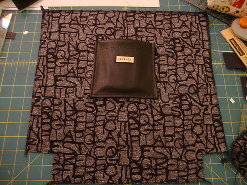 Another black vinyl tote bag, this time with lining from Gwen Couture
