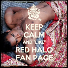 "KEEP CALM And ""Like"" The RED HALO Page"