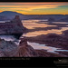 Sunrise over Lake Powell, Utah by enlightphoto