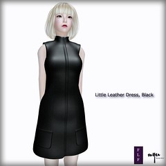 NYU - Little Leather Dress, Black (FLF)