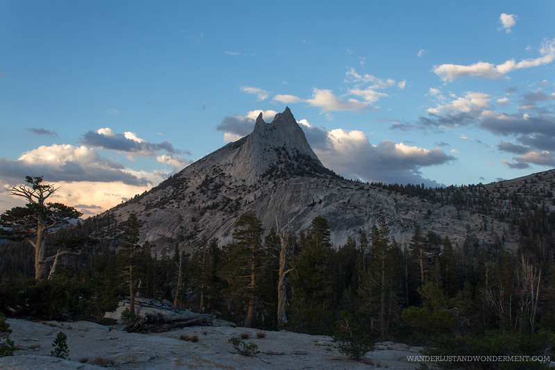 Cathedral peak at dusk