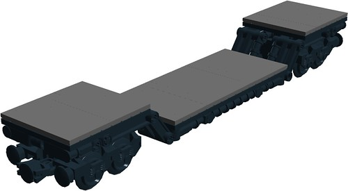 UK heavy load freight wagon (MOD)