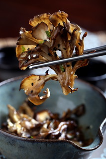 Olives for Dinner | Roasted Maitake in a Sesame-Miso Broth