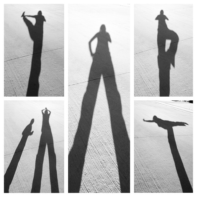 Way too much fun with my shadow.
