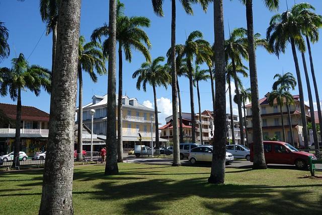 Praça no centro de Cayenne na Guiana Francesa