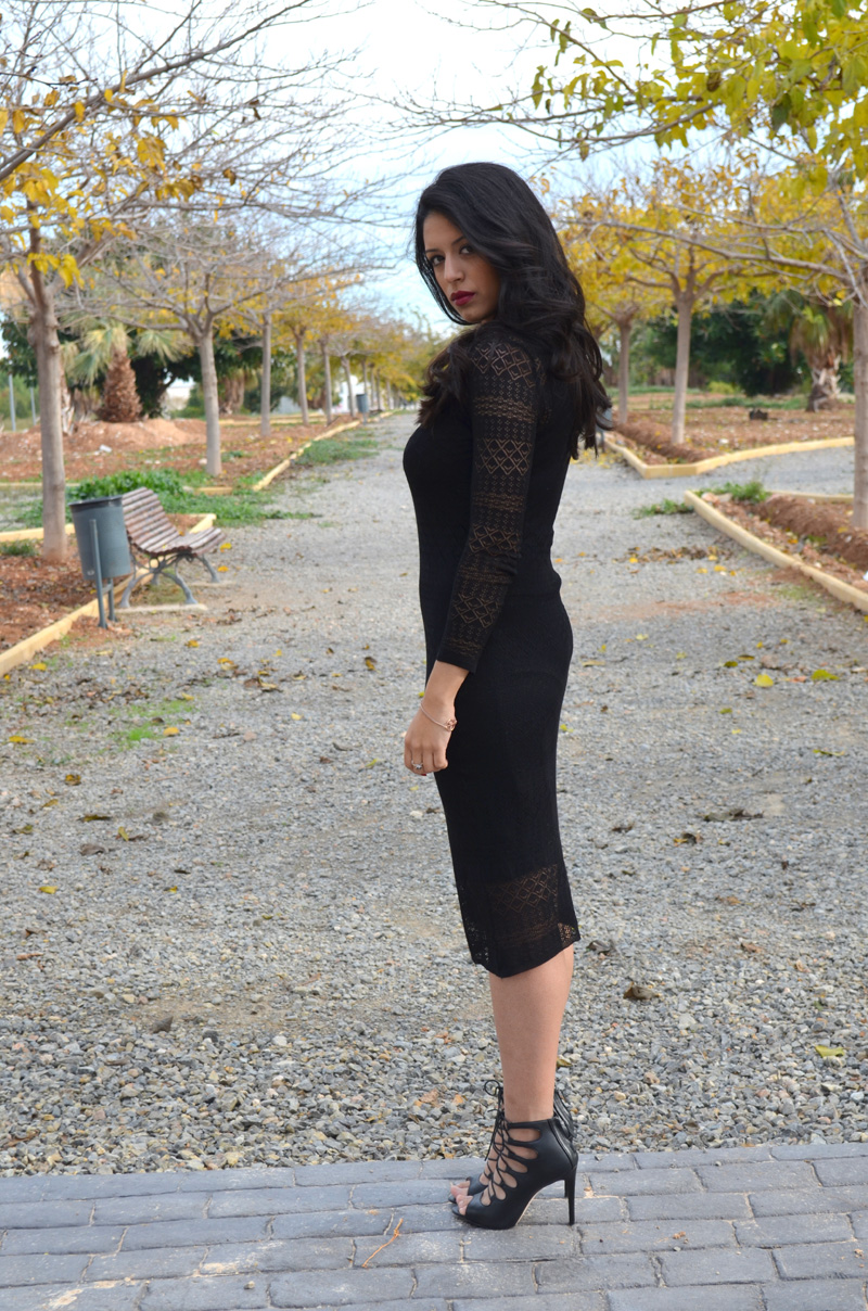 black midi dress florencia blog
