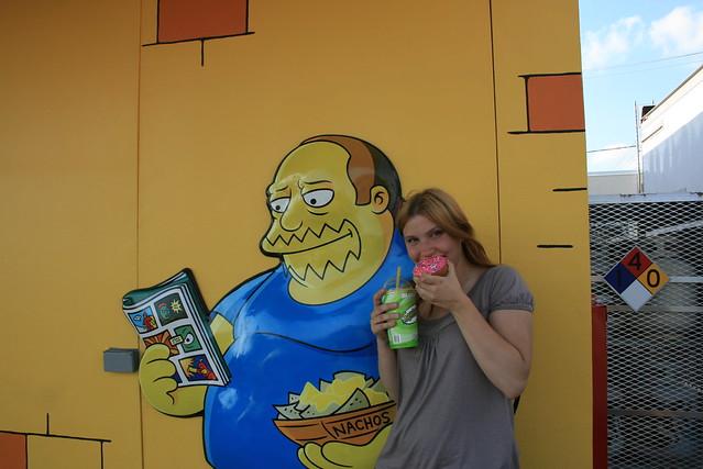 The Simpsons Kwik E Mart 7-11 in Chicago, Illinois