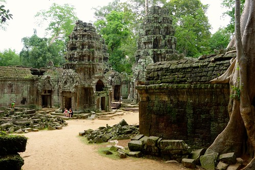 View on Ta Prohm temples