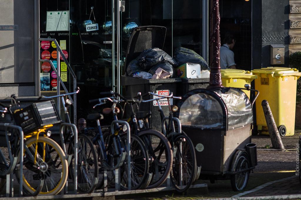 Ресторан и мусор в Амстердаме, звёзды Michelin