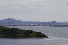 Edinburgh, Arthur's Seat and Salisbury Crags as viewed from Braefoot Point, Dalgety Bay, Fife...