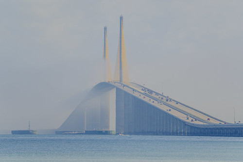 Marine Layer rolling through Sunshine Skyway Bridge - Timelapse 6/11