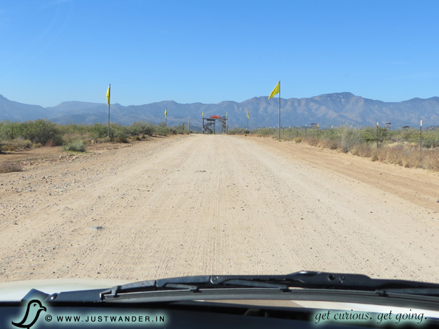 PIC: Driveway to the parking lot of Out of Africa Wildlife Park