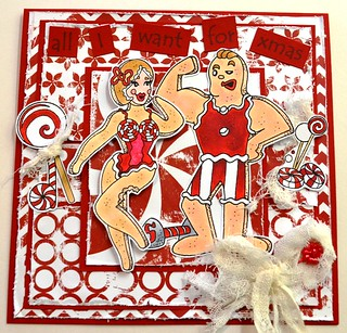 Bombshell Gingerbread Xmas Card