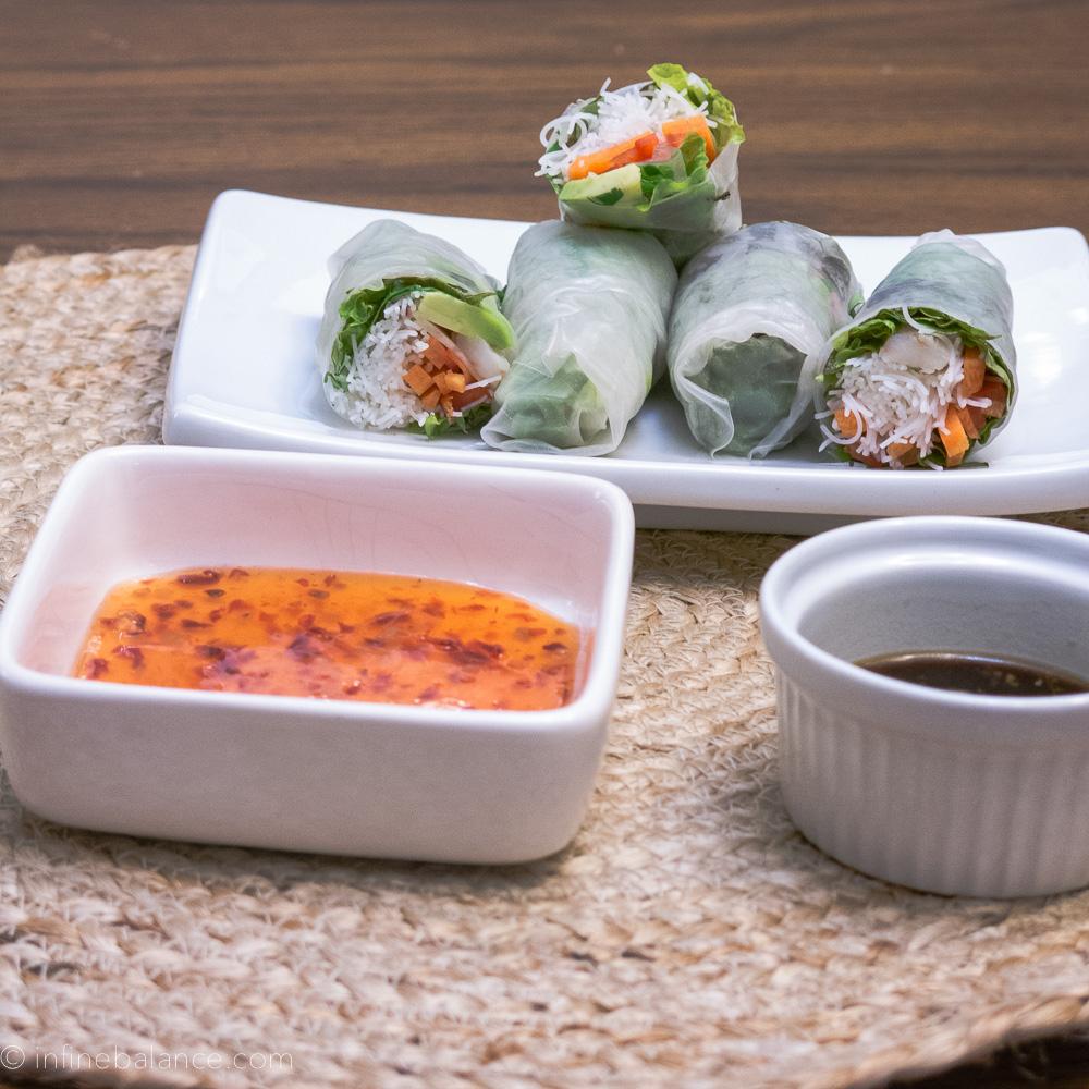 Fresh Salad Wraps wraps winter vegan soy rice paper lunch gluten-free appetizer