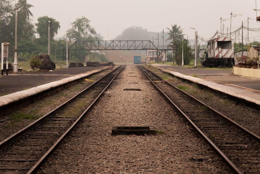 Train tracks at Gemas