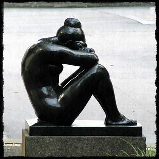 Sculpture - Sad Woman