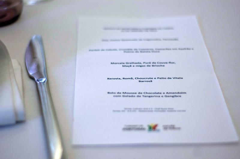 Almoço na Escola de Hotelaria e Turismo de Lisboa