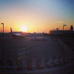 Sunrise at the Abu Dhabi airport