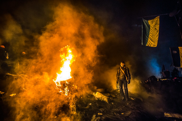 Protests January 25, 2014 in Kiev, Ukraine