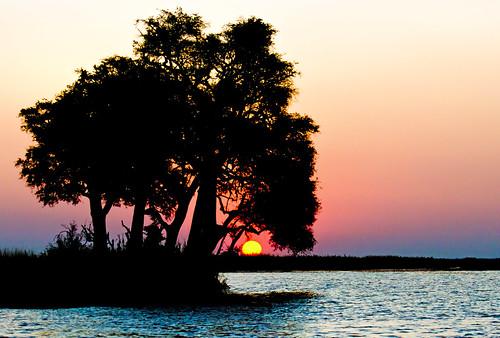 sunset botswana chobenp