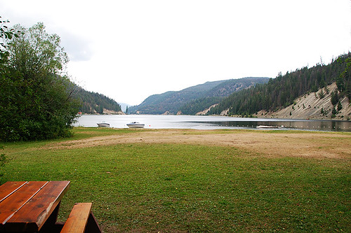 Day-use Picnic Site at Otter Lake Provincial Park, Tulameen, Tulameen Valley, Similkameen, British Columbia, Canada