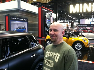 Hanging out at the MINI booth