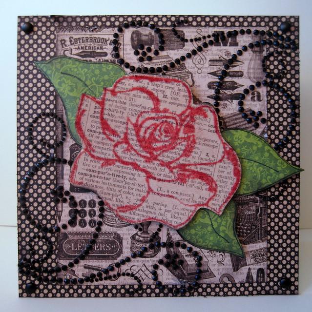 Card - TRC Rose Outline