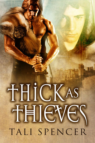the cover of thick as thieves features a brawny man