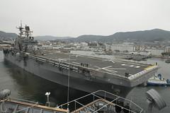 USS Bonhomme Richard (LHD 6) departs Fleet Activities Sasebo, Feb. 17. (U.S. Navy photo/MCSN Raymond D. Diaz III)