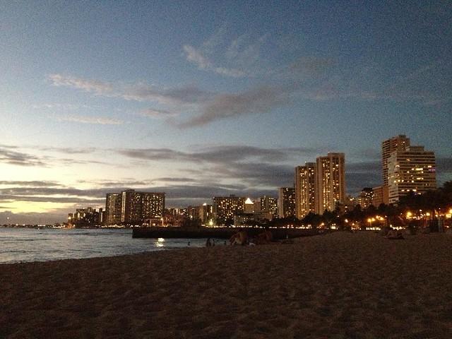 Waikiki at night