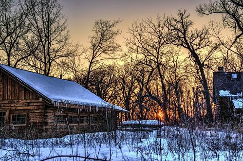 trees nature illinois thegrove sunsets hdr glenview hcs logcabins nikkor18300mm clichésaturday