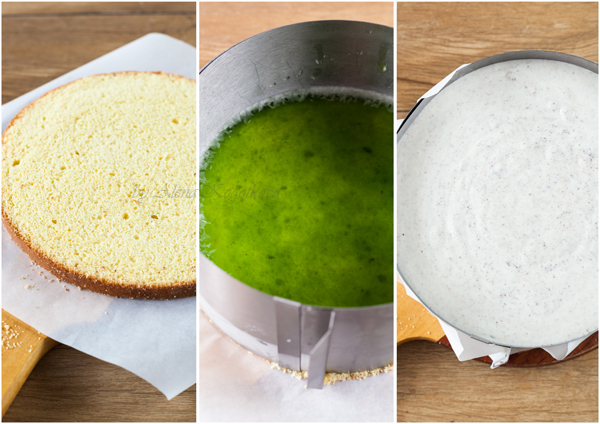 Preparing Mint&Yogurt Cake