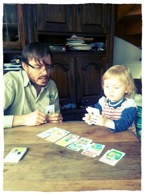 Playing cards with Papa