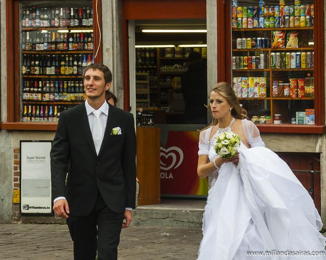 Boda en las calles de Gante
