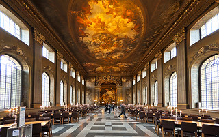 The Painted Hall of the Old Royal Naval College, Greenwich London
