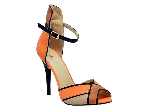 Orange High Formal sandal (4)
