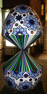 GLITCH IN REALITY, 2014 -  Faig Ahmed (One of the NYC Big Egg Hunt giant Easter Eggs)